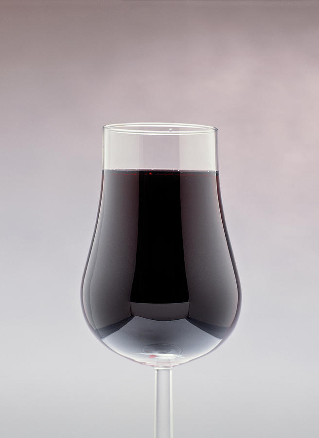 Vertical Photograph - Red Wine In A Glass by Panoramic Images