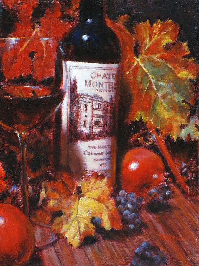 Red Wine Painting - Red Wine With Red Pomergranates by Takayuki Harada
