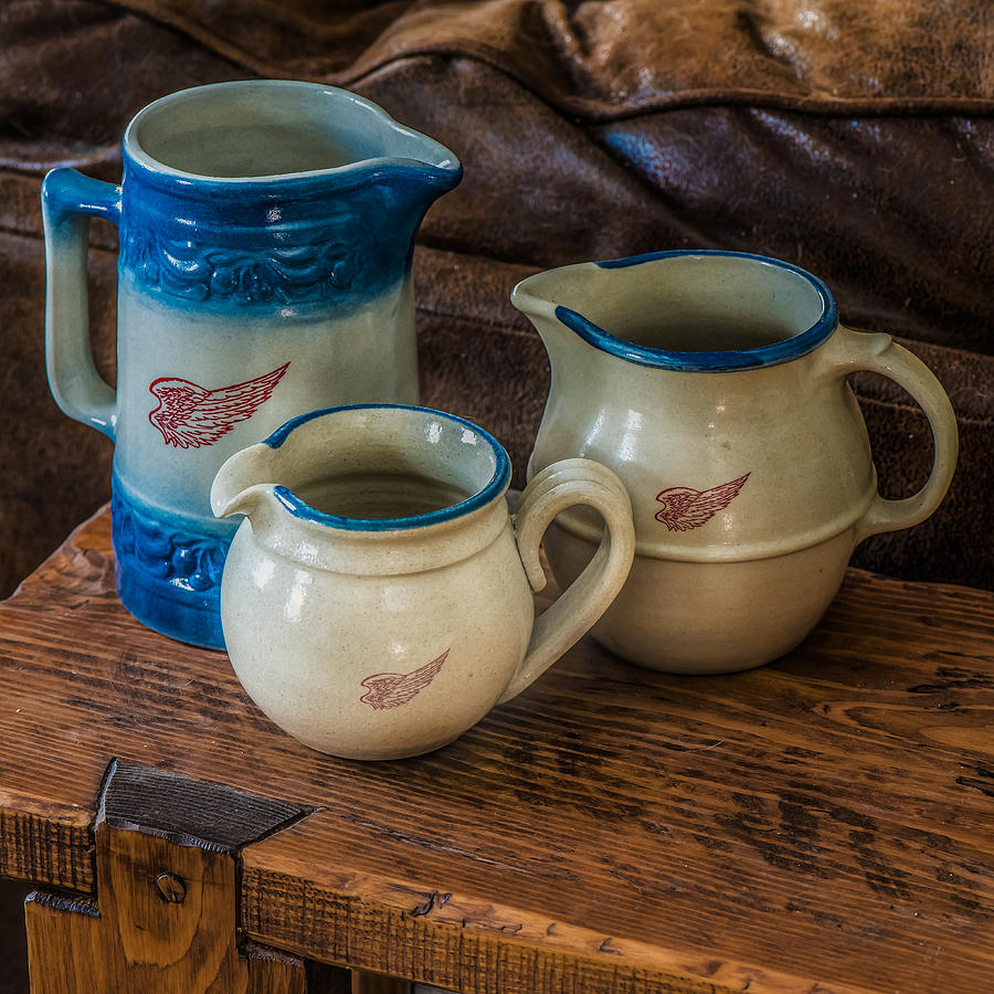 Red Wing Photograph - Red Wing Pitchers by Paul Freidlund