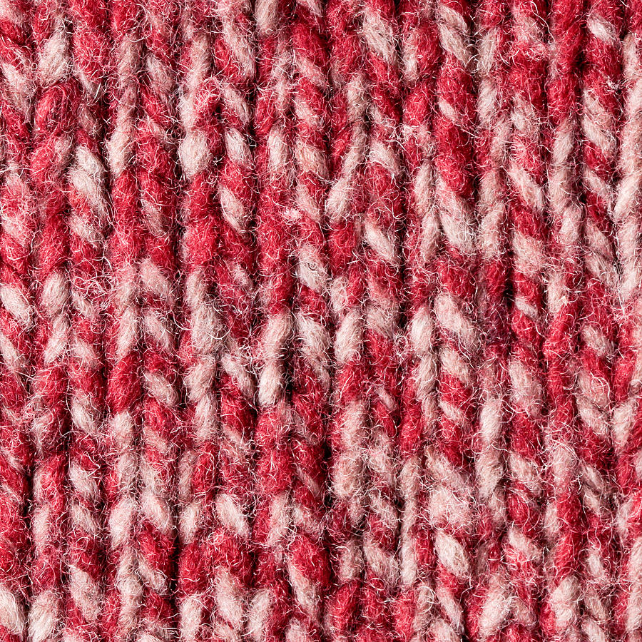 Abstract Photograph - Red Wool by Tom Gowanlock