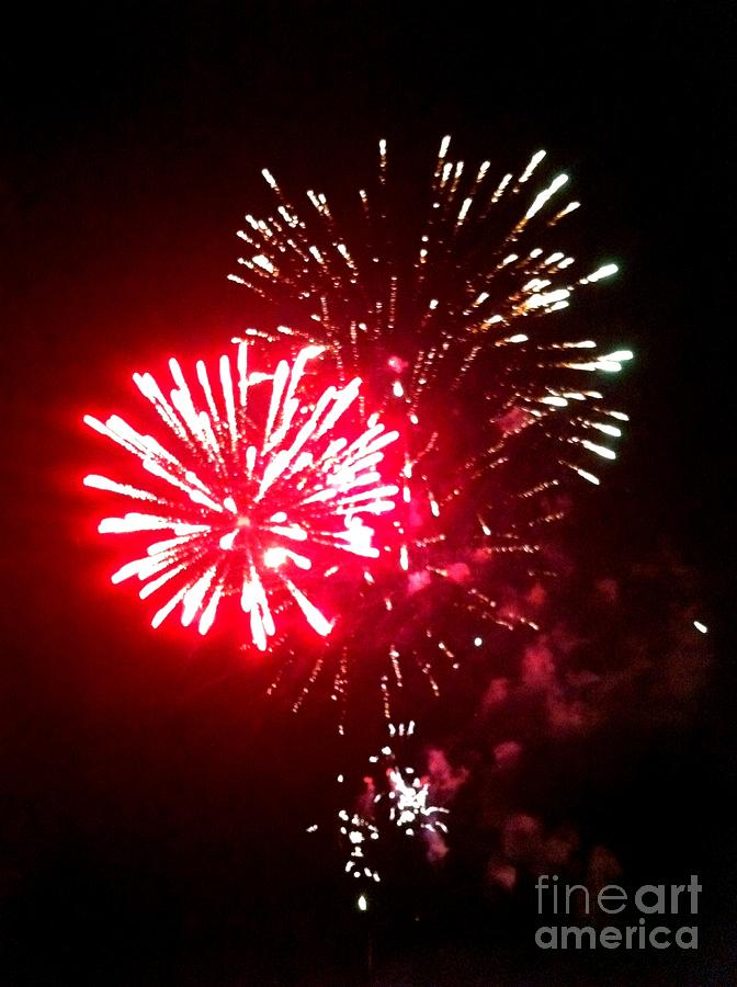 Fireworks Photograph - Red Works by Shelia Kempf
