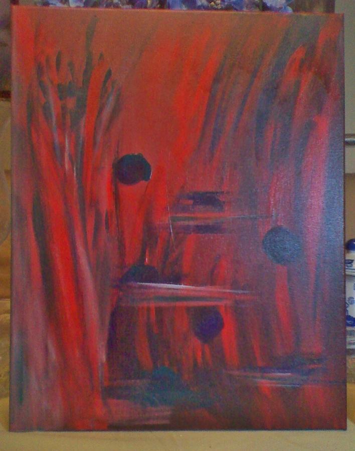 Red World Painting by Shirbie LaRob Whitman