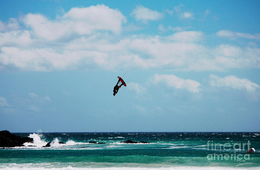 Kiteboarder Photograph - Redbull King Of The Air Competition Cape Town South Africa by Charl Bruwer