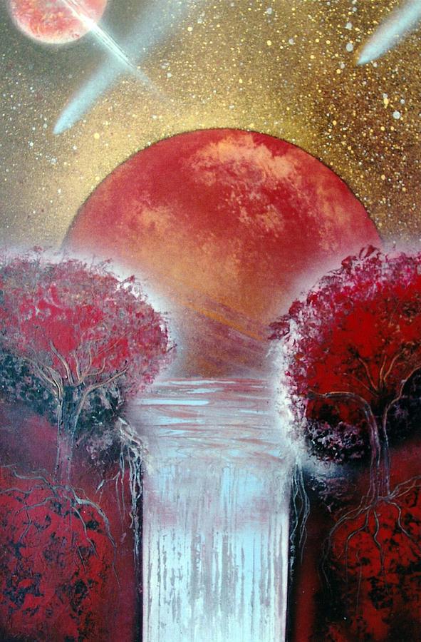 Landscape Painting - Redder by Jason Girard