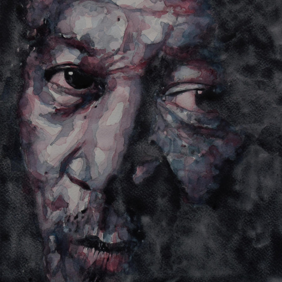Morgan Freeman Painting - Redemption Man by Paul Lovering