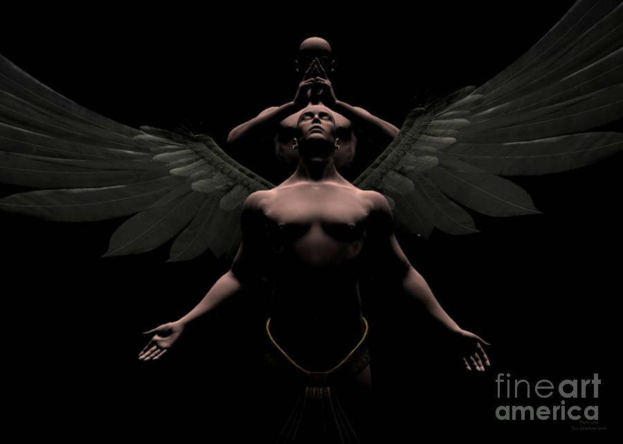 Angel Digital Art - Redemption by Sipo Liimatainen