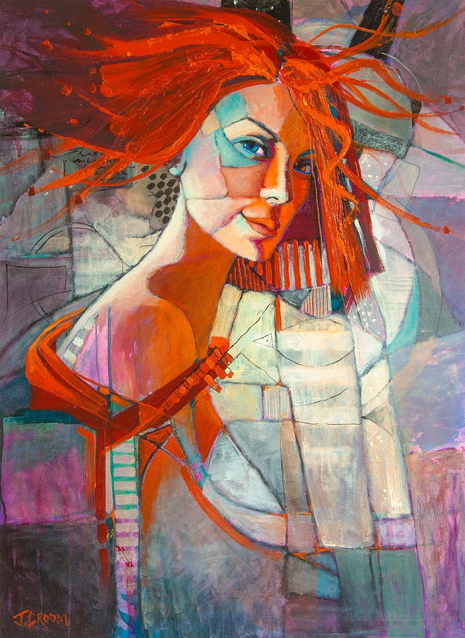 Redhead Painting by Jennifer Croom