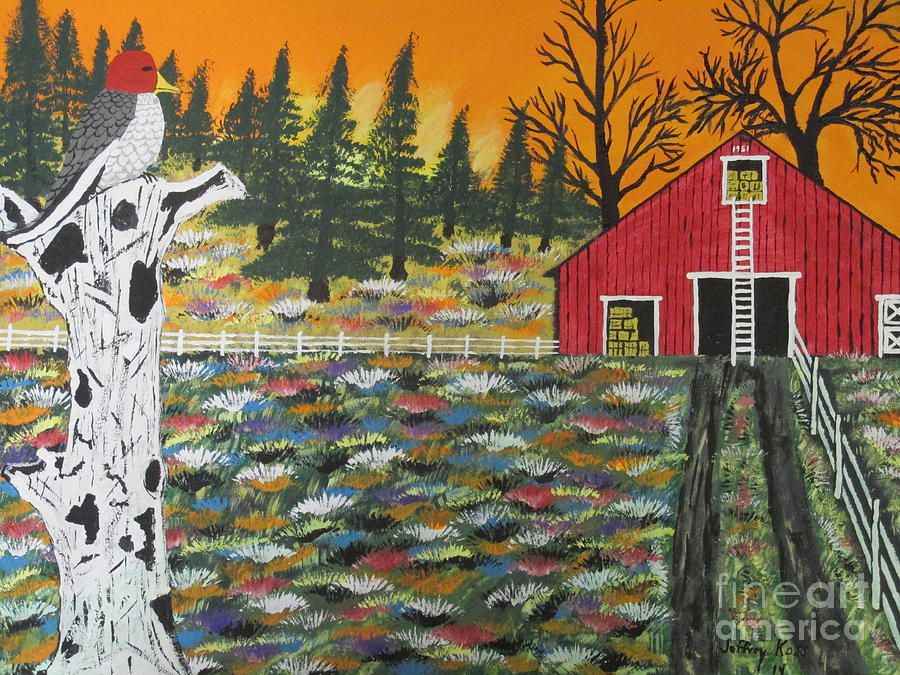 Woodpecker Painting - Redheads Lookout  by Jeffrey Koss