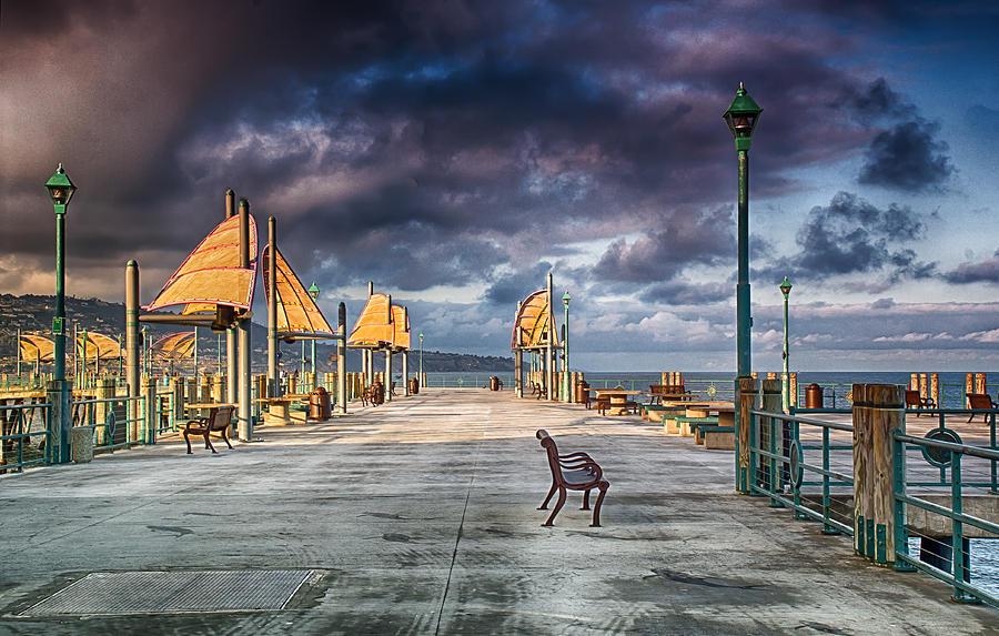 Redondo Beach Pier Photograph - Redondo Pier by Joseph Hollingsworth