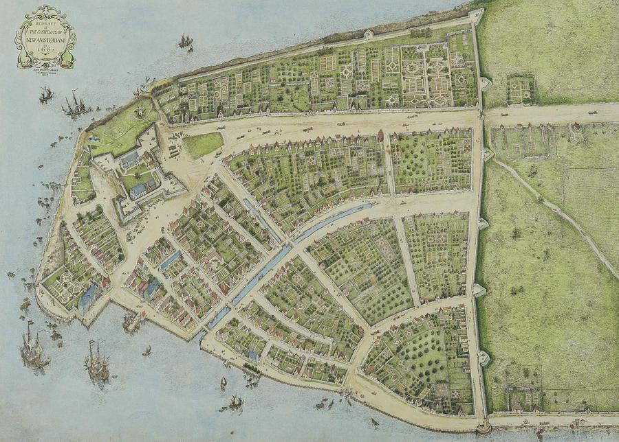 New York Drawing - Redraft Of The Castello Plan by John Wolcott Adams
