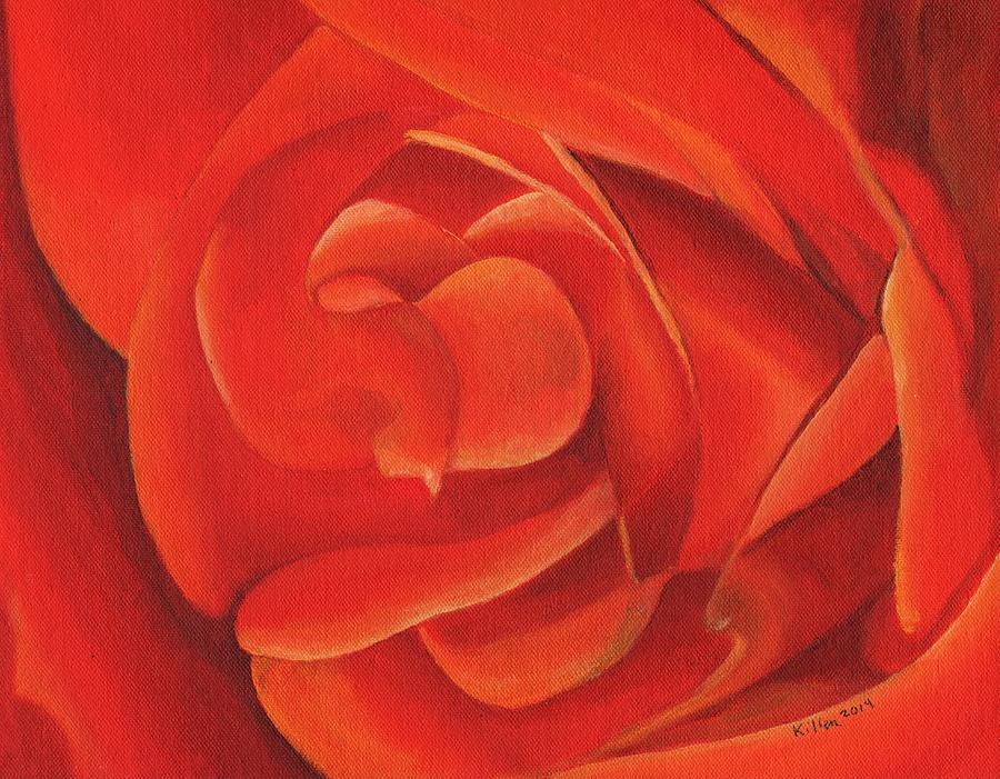 Modern Painting - Redrose14-1 by William Killen