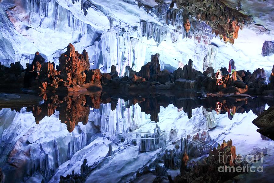 Blue Photograph - Reed Flute Cave Guillin China by Thomas Marchessault