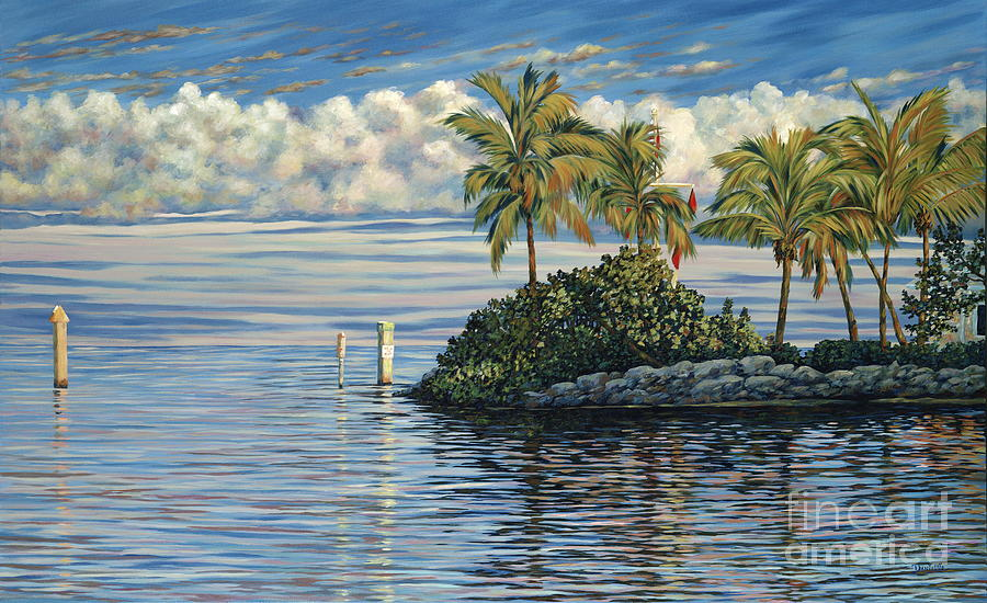 Ocean Reef Club Painting - Reef Channel by Danielle  Perry