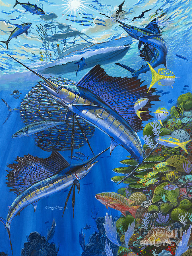 Reef Frenzy Off00141 Painting