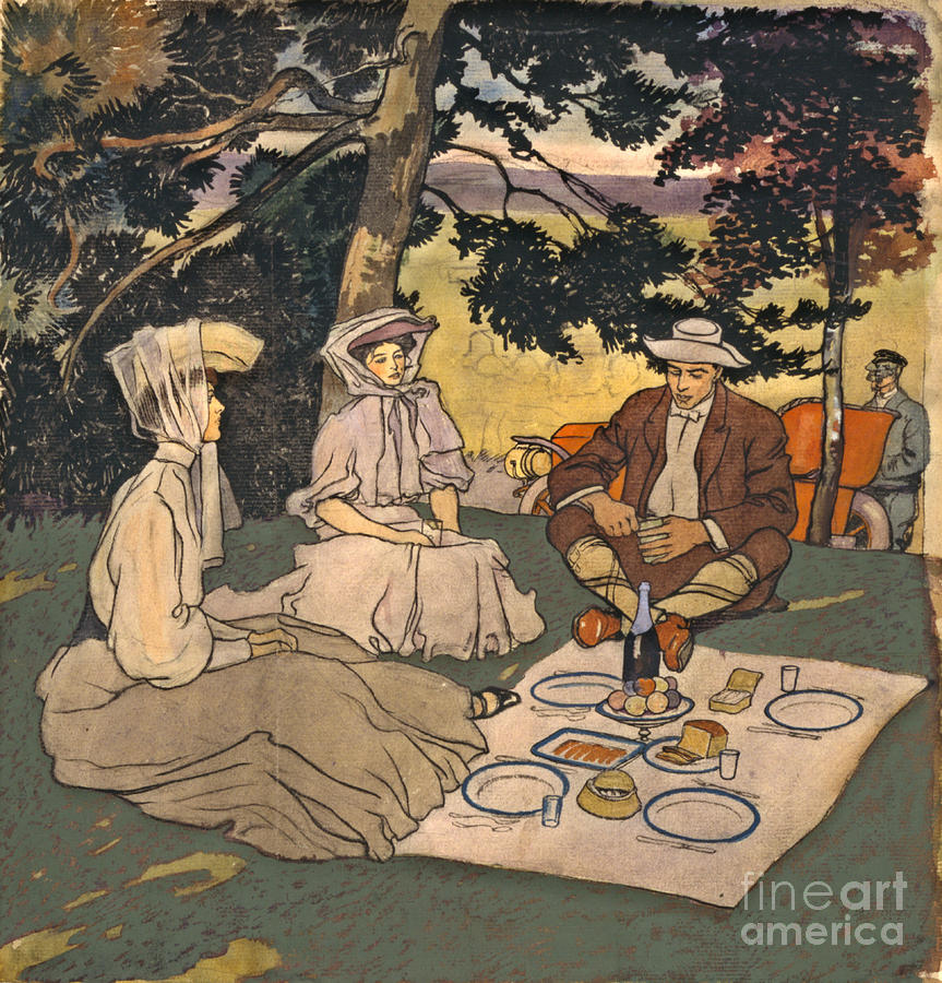 Refined Picnic 1904 Photograph - Refined Picnic 1904 by Padre Art