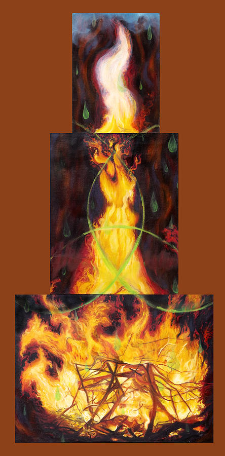 Fire Painting - Refiners Fire by Anne Cameron Cutri