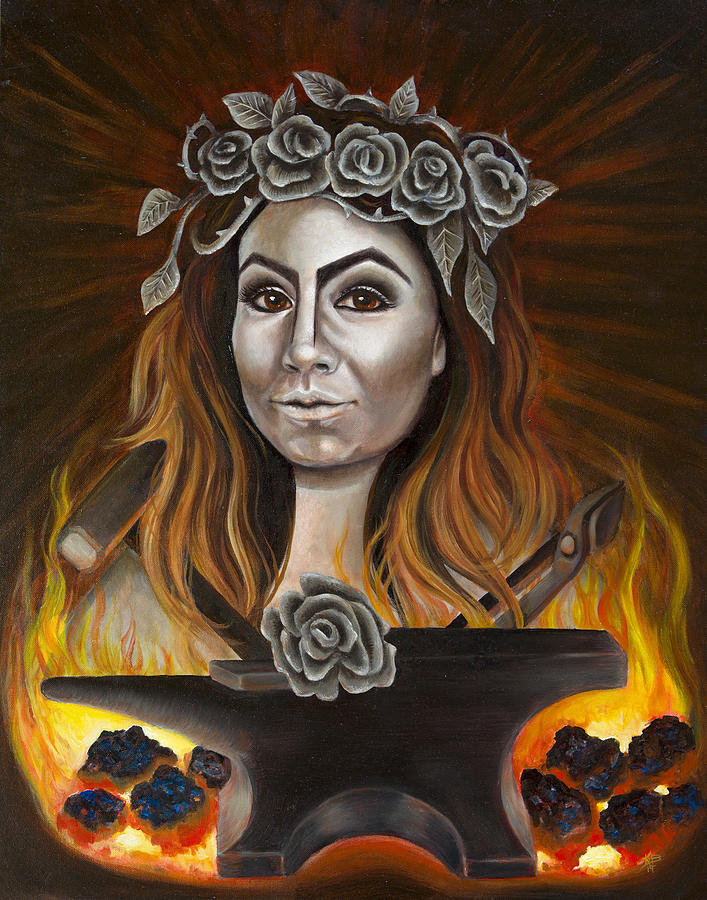 Portrait Painting - Refiners Fire by Kirsten Beitler