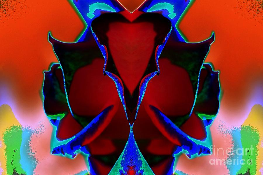 Rose Digital Art - Reflected Beauty by Lorles Lifestyles