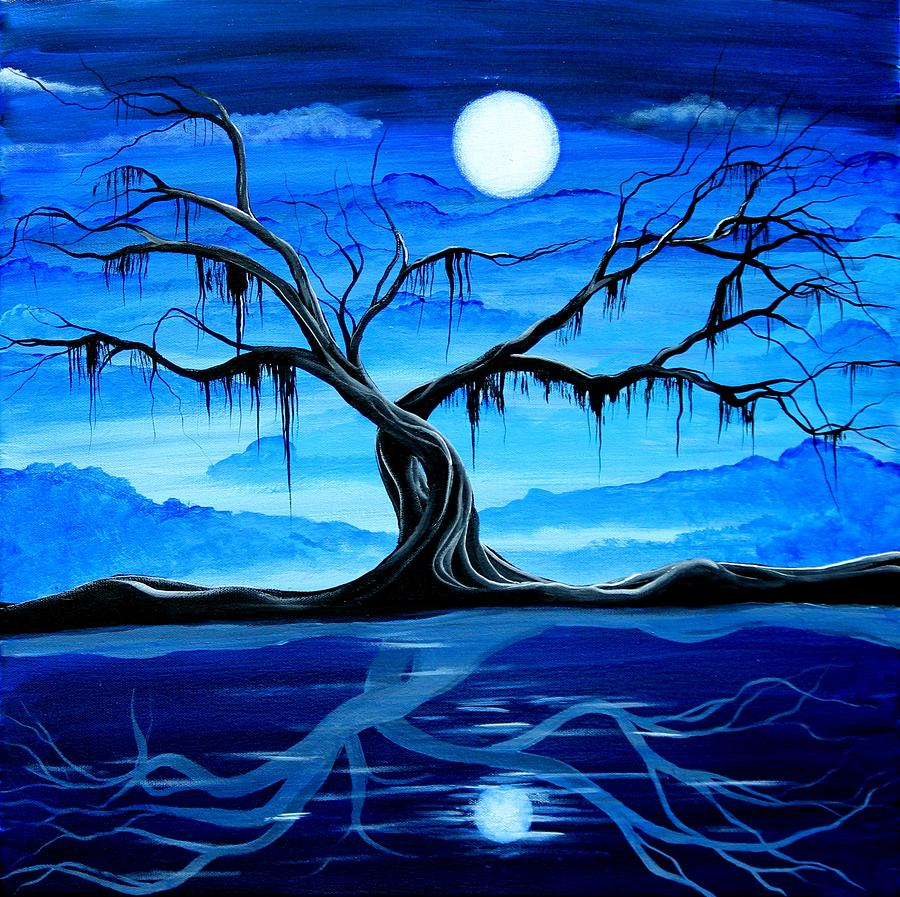 Landscape Painting - Reflected Dream by Angieclementine AKA Angie Phillips
