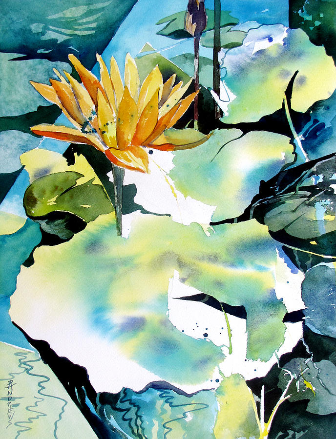 Lily Painting - Reflected Magic by Rae Andrews