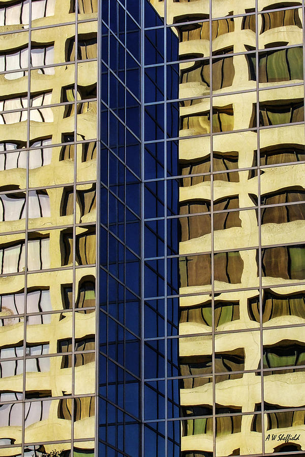 Houston Photograph - Reflecting Architecture  by Allen Sheffield