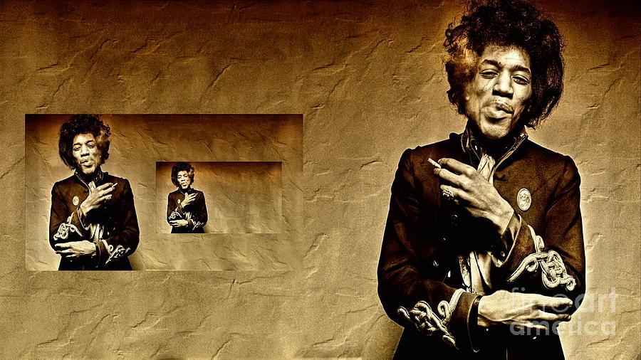 Jimi Hendrix Photograph - Reflecting On Jimi Hendrix  by Andrea Kollo