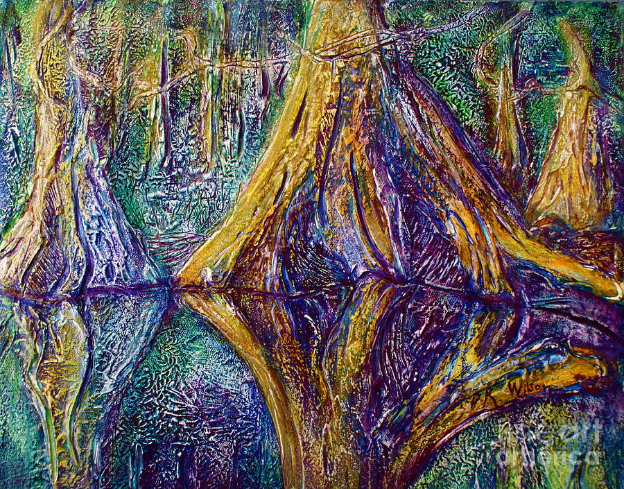 St. Johns River Painting - Reflecting On The St. Johns River by D Renee Wilson