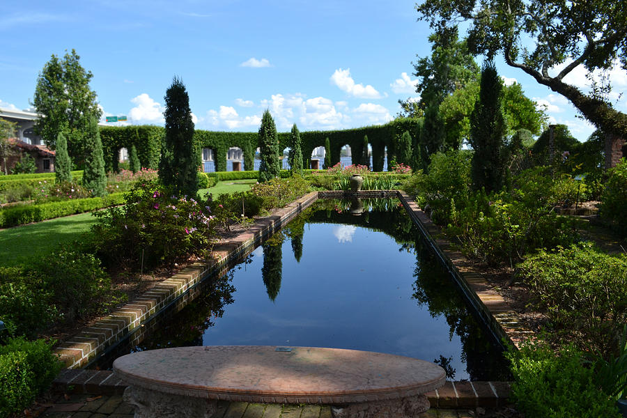 Reflecting Pond Digital Art - Reflecting Pond Landscape by Victoria Clark