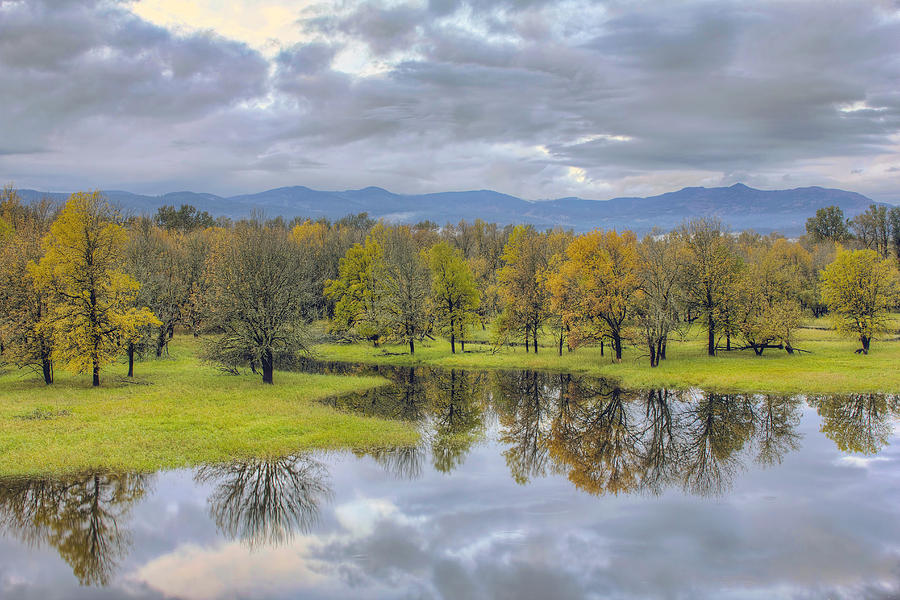 Columbia Photograph - Reflection At Columbia River Gorge by David Gn