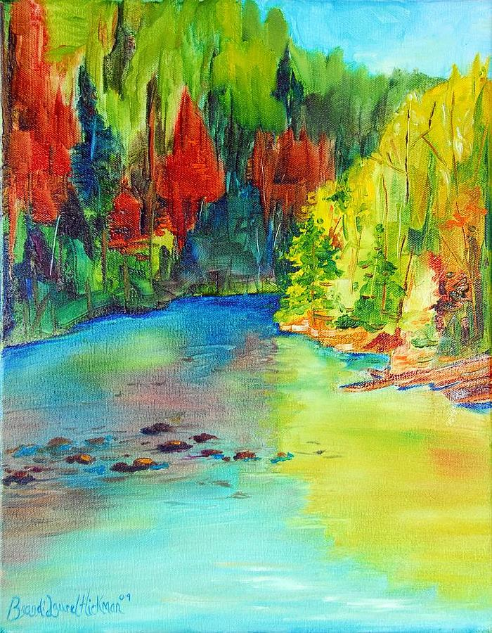 River Painting - Reflection by Brandi  Hickman