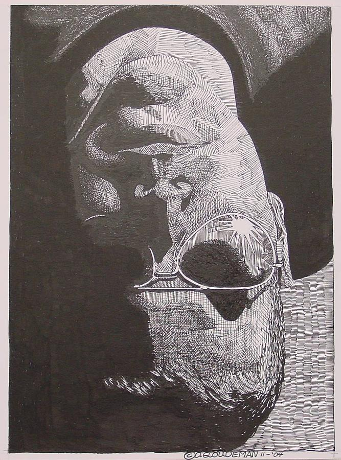 Portraiture Drawing - Reflection by Denis Gloudeman