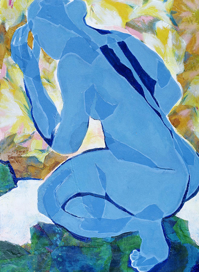 Nude Mixed Media - Reflection by Diane Fine