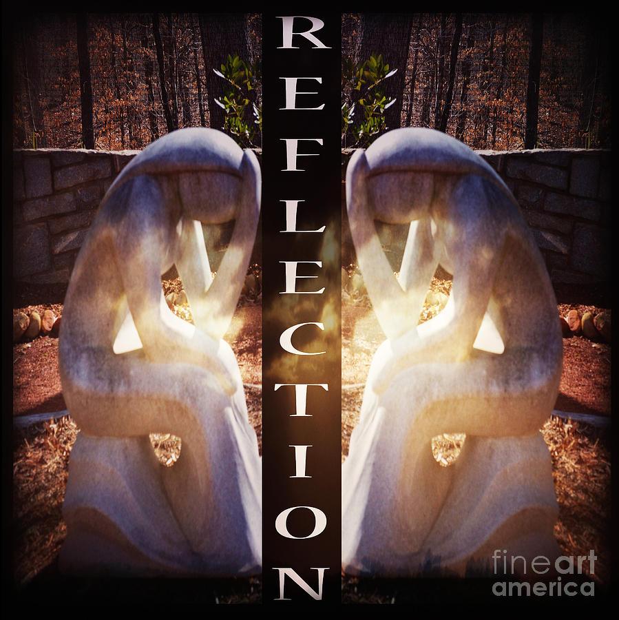 Statue Photograph - Reflection by Eva Thomas