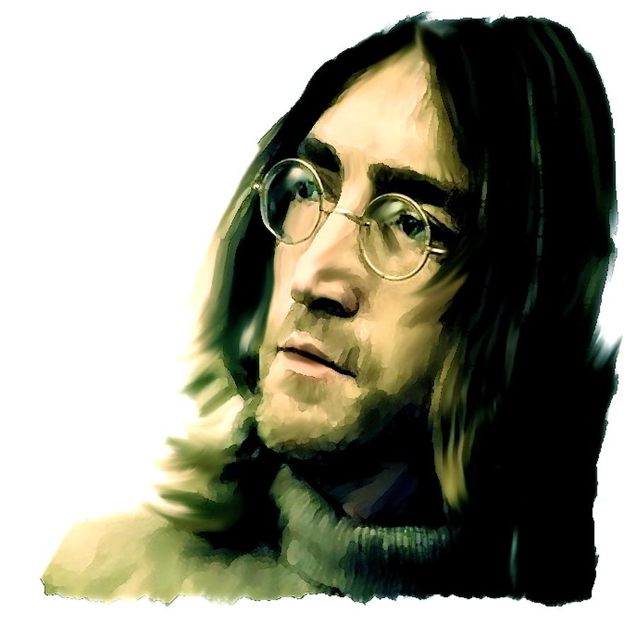 Reflection John Lennon Painting by Iconic Images Art Gallery David Pucciarelli