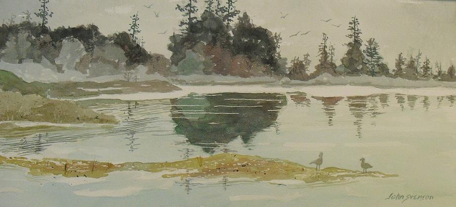 John Svenson Painting - Reflection by John  Svenson