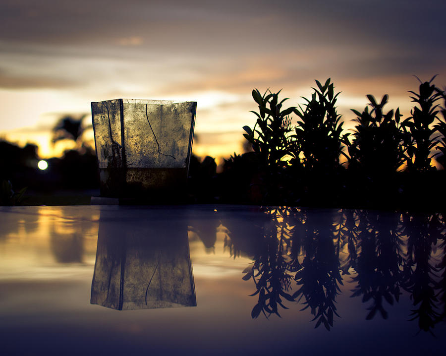 Dawn Photograph - Reflection by Kingsley  Gicalde