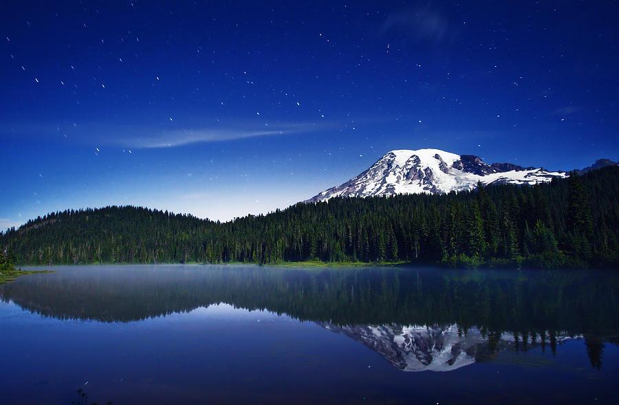 Reflection Lake Stars Photograph