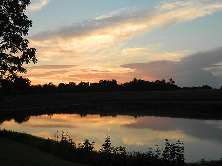 Sunset Photograph - Reflection by Linda Brown