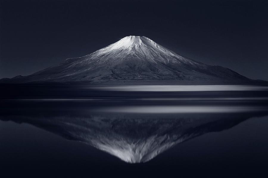 Mount Fuji Photograph - Reflection Mt. Fuji by Takashi Suzuki
