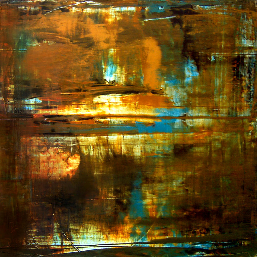 Abstract Painting - Reflection by Natalie Starnes