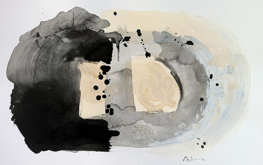 Coffee Painting - Reflection Number Four by Mark M  Mellon