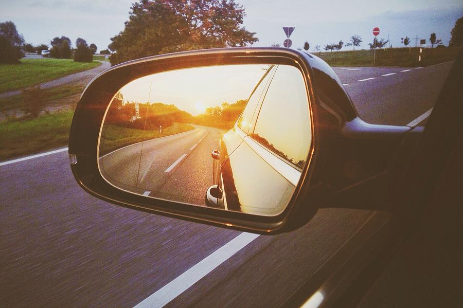 Reflection Of Car On Side-view Mirror Photograph by Sinan Saglam / Eyeem