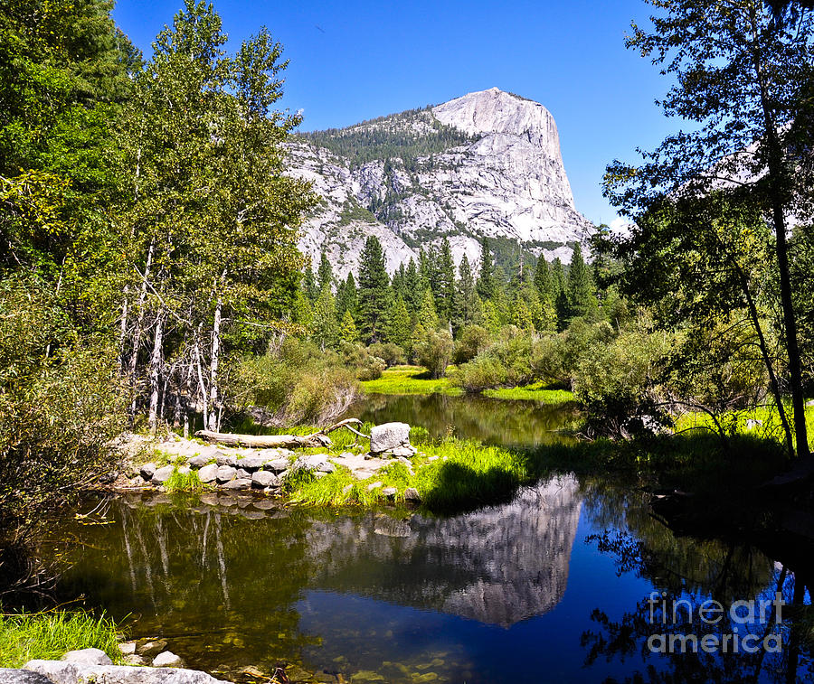 Yosemite Photograph - Reflection Of Mt Watkins In Mirror Lake Located In Yosemite National Park by Camille Lyver