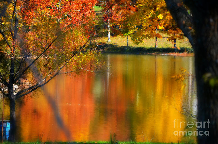 Autumn Photograph - Reflection  Of My Thoughts  Autumn  Reflections by Peggy Franz