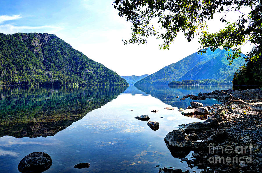 Reflection on Lake Crescent Horizontal by Sarah Schroder