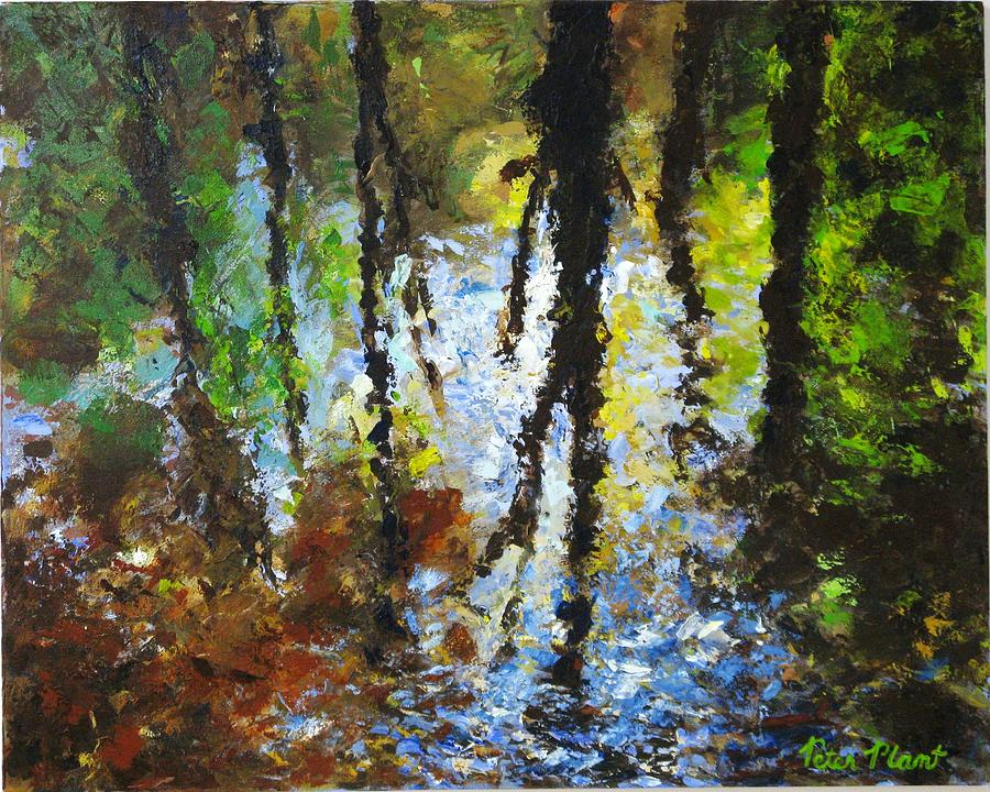 Waterscape Painting - Reflection by Peter Plant