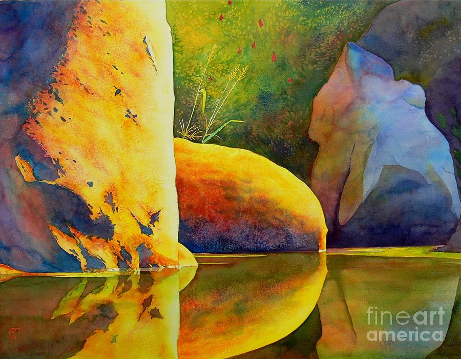 Watercolor Painting - Reflection by Robert Hooper