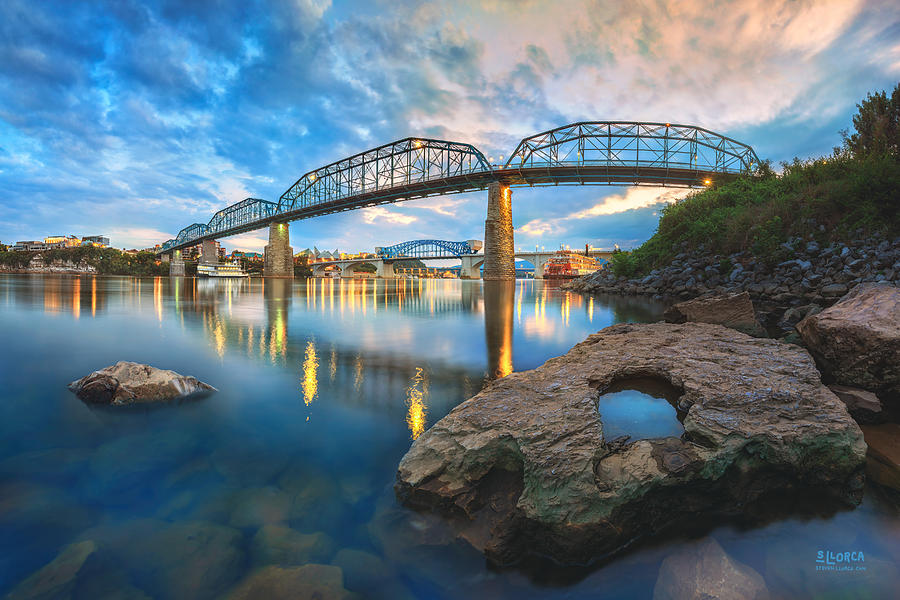 Chattanooga Photograph - Reflection Rock At Low Water by Steven Llorca