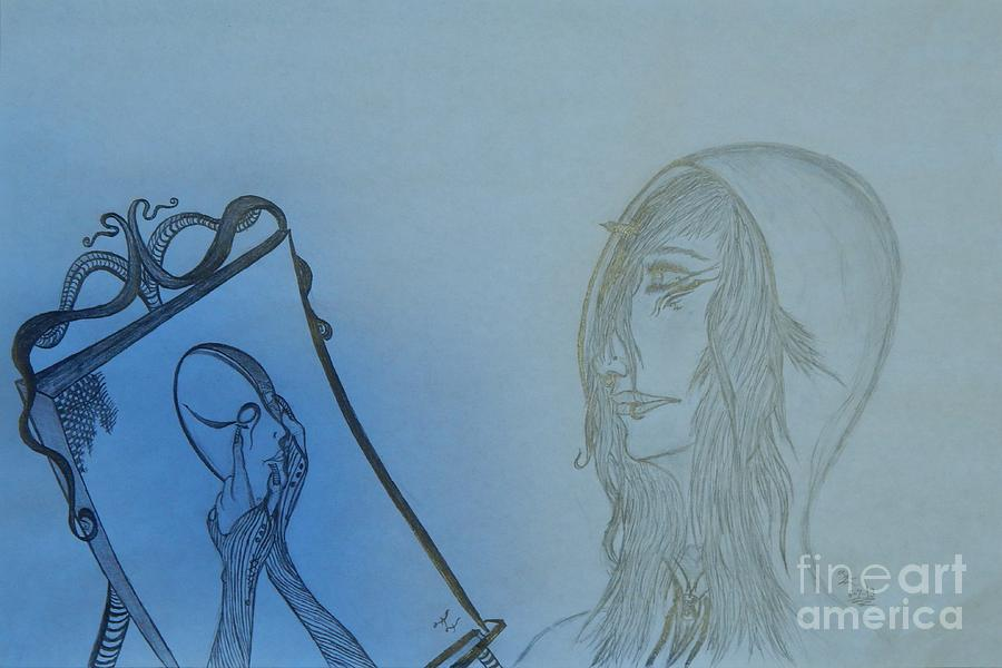 Defiance Drawing - Reflection by Thommy McCorkle