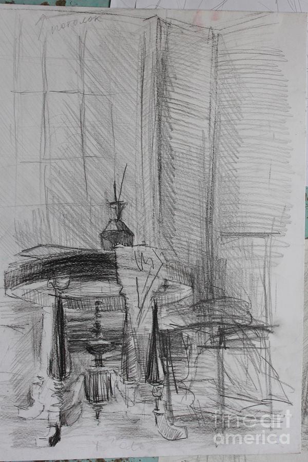Art Studio Drawing - Reflection by Victoria  Tekhtilova